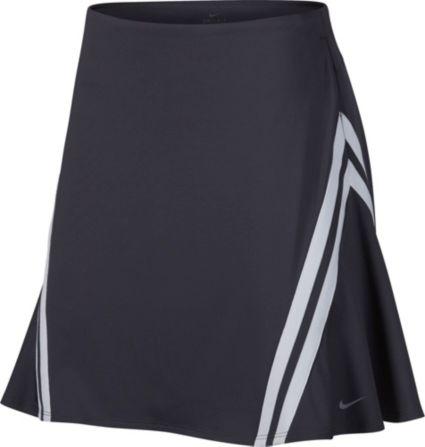"Nike Women's Dri-FIT Side Stripe 17"" Golf Skort"