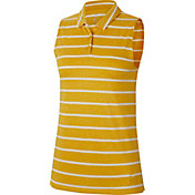 Nike Women's Dri-FIT Striped Sleeveless Golf Polo