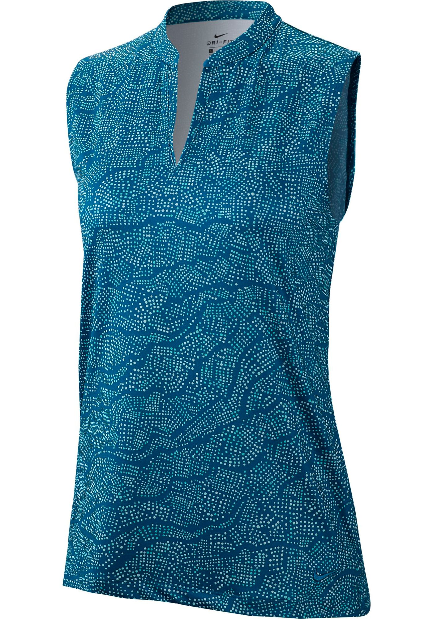 Nike Women's Dri-FIT UV Printed Sleeveless Golf Polo