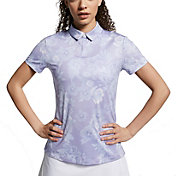 Nike Women's Dri-FIT Floral Printed Short Sleeve Golf Polo
