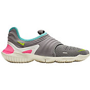Nike Women's Free RN Flyknit 3.0 Running Shoes in Grey/Volt/Aurora