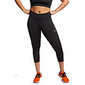 Nike Women's Plus Size Fast 3/4 Running Cropped Leggings