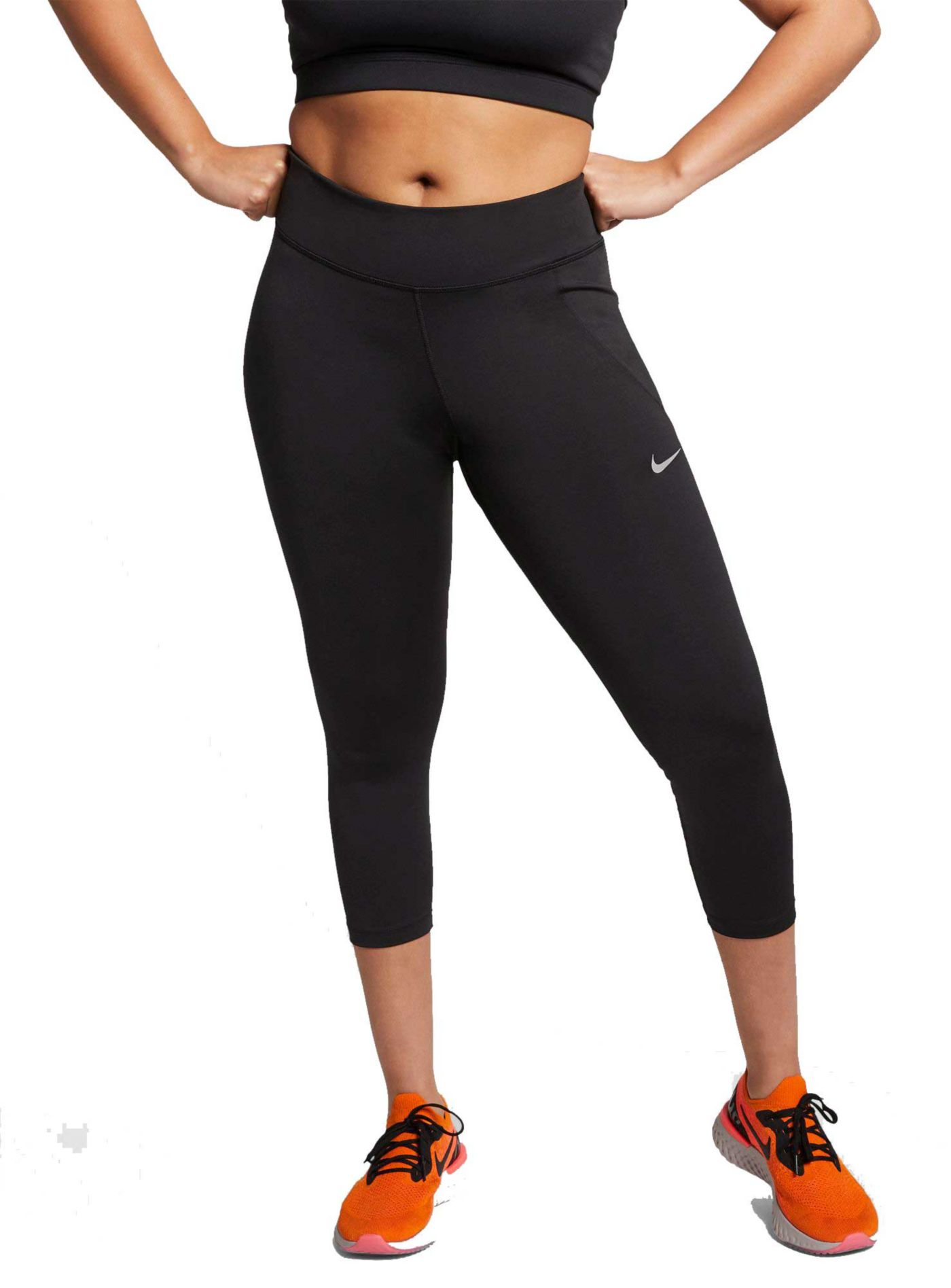 Nike Women's Plus Size Fast 3/4 Running Cropped Leggings