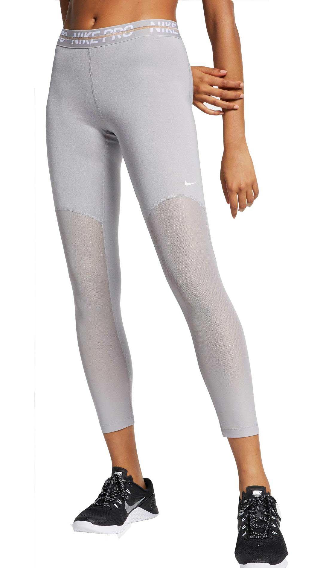 latest discount best selling on feet shots of Women's Nike Pro Heatherized 7/8 Leggings