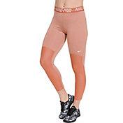 Women's Nike Pro Heatherized 7/8 Leggings in Dusty Peach