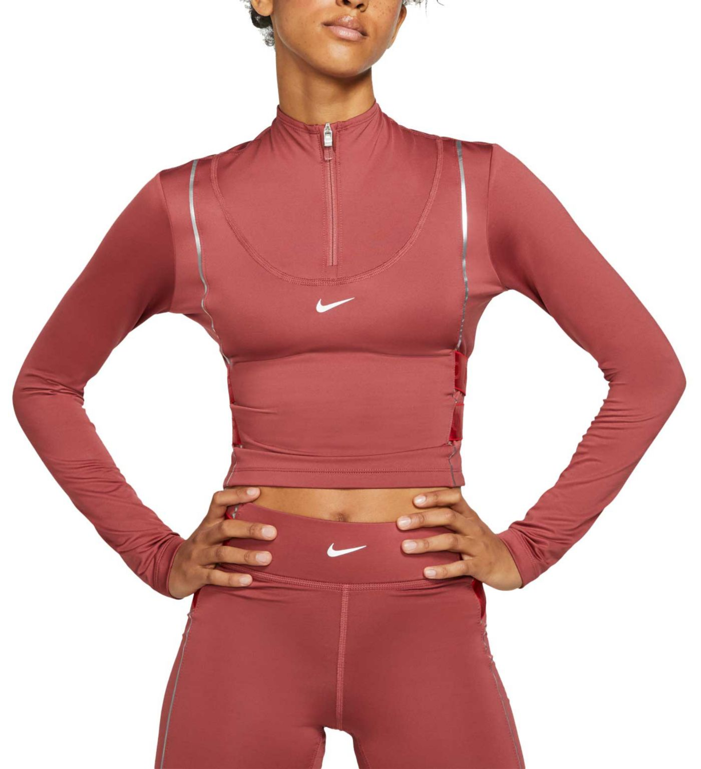 Nike Pro Women's HyperWarm ½ Zip Long Sleeve Top
