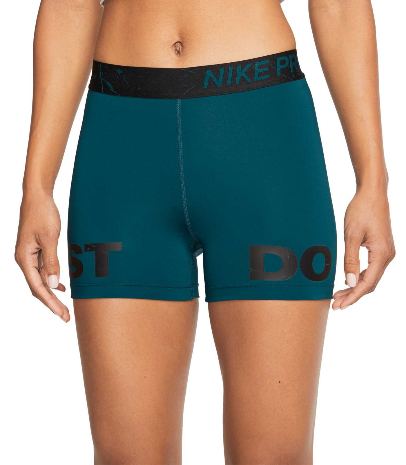 "Nike Pro Women's 3"" Just Do It Marble Shorts"