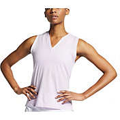 Nike Women's Knit Burnout Sleeveless Golf Polo