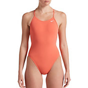 Nike Women's HydraStrong Lace Up Tie Back One Piece Swimsuit