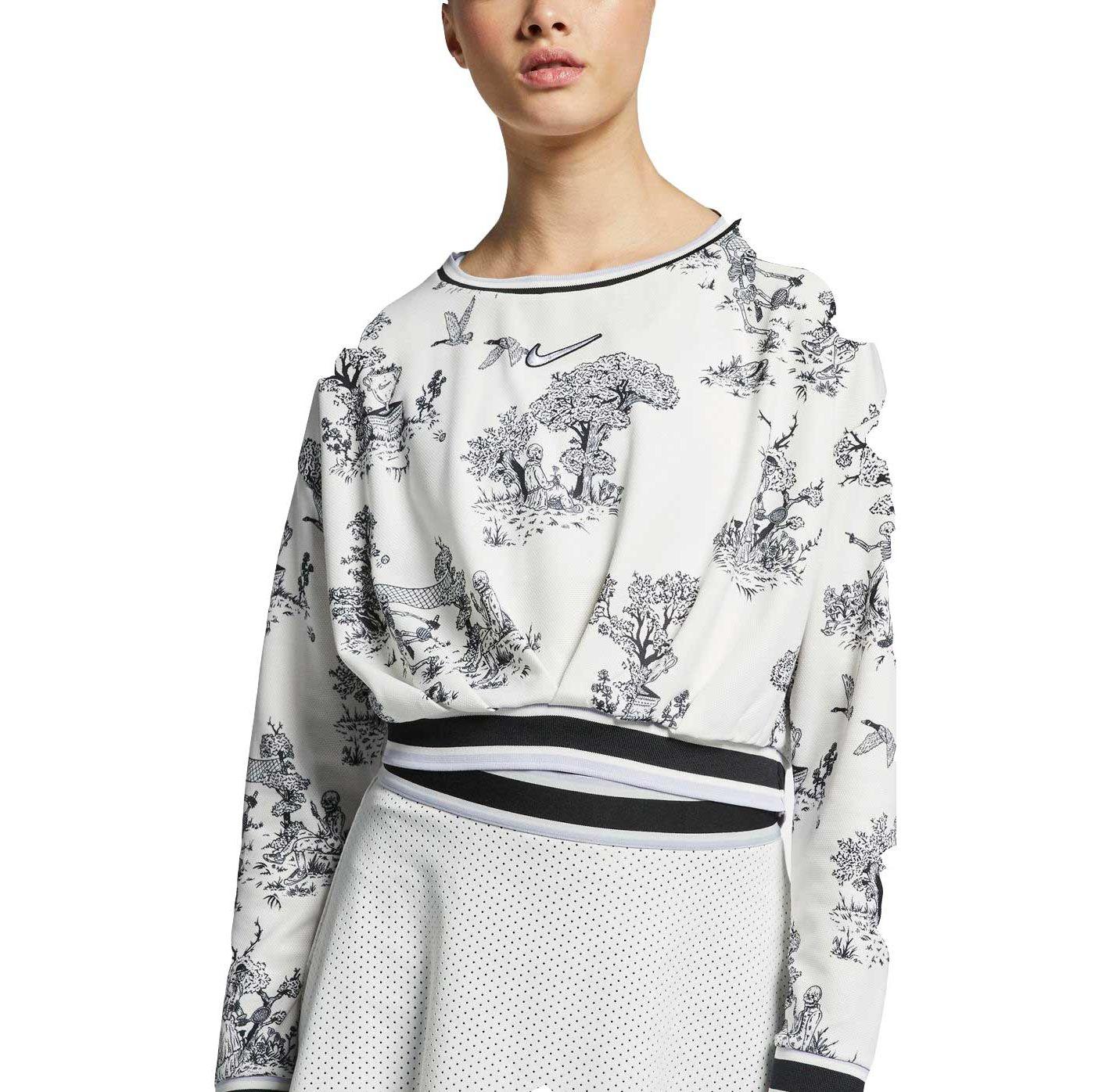 Nike Women's Dri-FIT Skull Print Tennis Long Sleeve Shirt