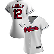 Nike Women's Replica Cleveland Indians Francisco Lindor #12 Cool Base White Jersey
