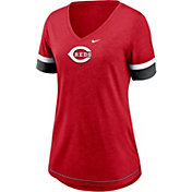 Nike Women's Cincinnati Reds Red Mesh Logo V-Neck T-Shirt