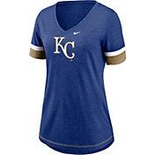 Nike Women's Kansas City Royals Blue Mesh Logo V-Neck T-Shirt