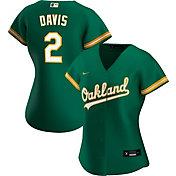 Nike Women's Replica Oakland Athletics Khris Davis #2 Cool Base Green Jersey
