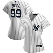 Nike Women's Replica New York Yankees Aaron Judge #99 Cool Base White Jersey