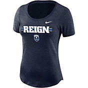 Nike Women's Seattle Reign Logo Wordmark Navy T-Shirt
