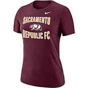 Nike Women's Sacramento FC Team Scoop Maroon T-Shirt