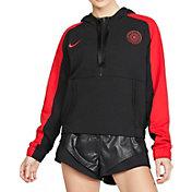 Nike Women's Portland Thorns FC Cropped Half-Zip Soccer Hoodie
