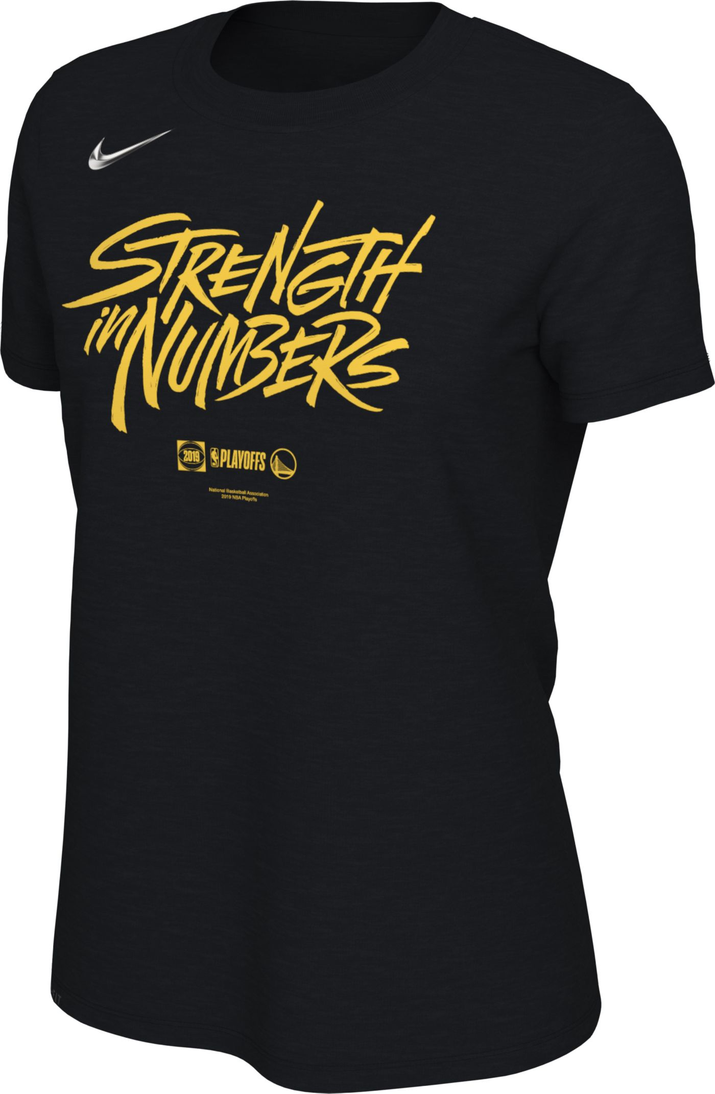 "Nike Women's Golden State Warriors 2019 Playoffs ""Strength In Numbers"" Dri-FIT T-Shirt"