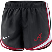Nike Women's Alabama Crimson Tide Dri-FIT Tempo Black Shorts