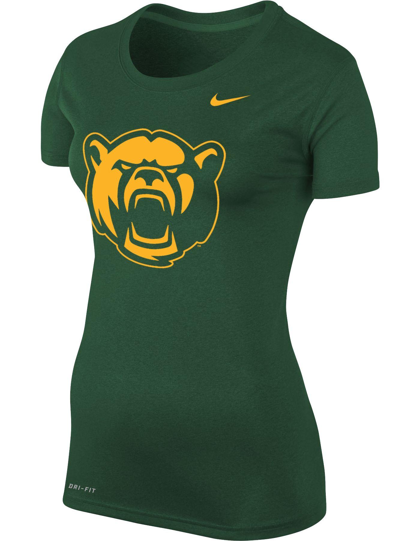 Nike Women's Baylor Bears Green Logo Dri-FIT Legend T-Shirt