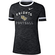 Nike Women's UCF Knights Slub Fan Ringer Football Black T-Shirt