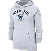 Nike Women's Fresno State Bulldogs Grey Rally Pullover Hoodie