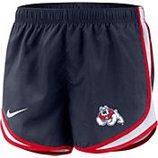 Nike Women's Fresno State Bulldogs Blue Dri-FIT Tempo Shorts