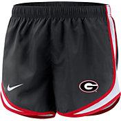 Nike Women's Georgia Bulldogs Dri-FIT Tempo Black Shorts