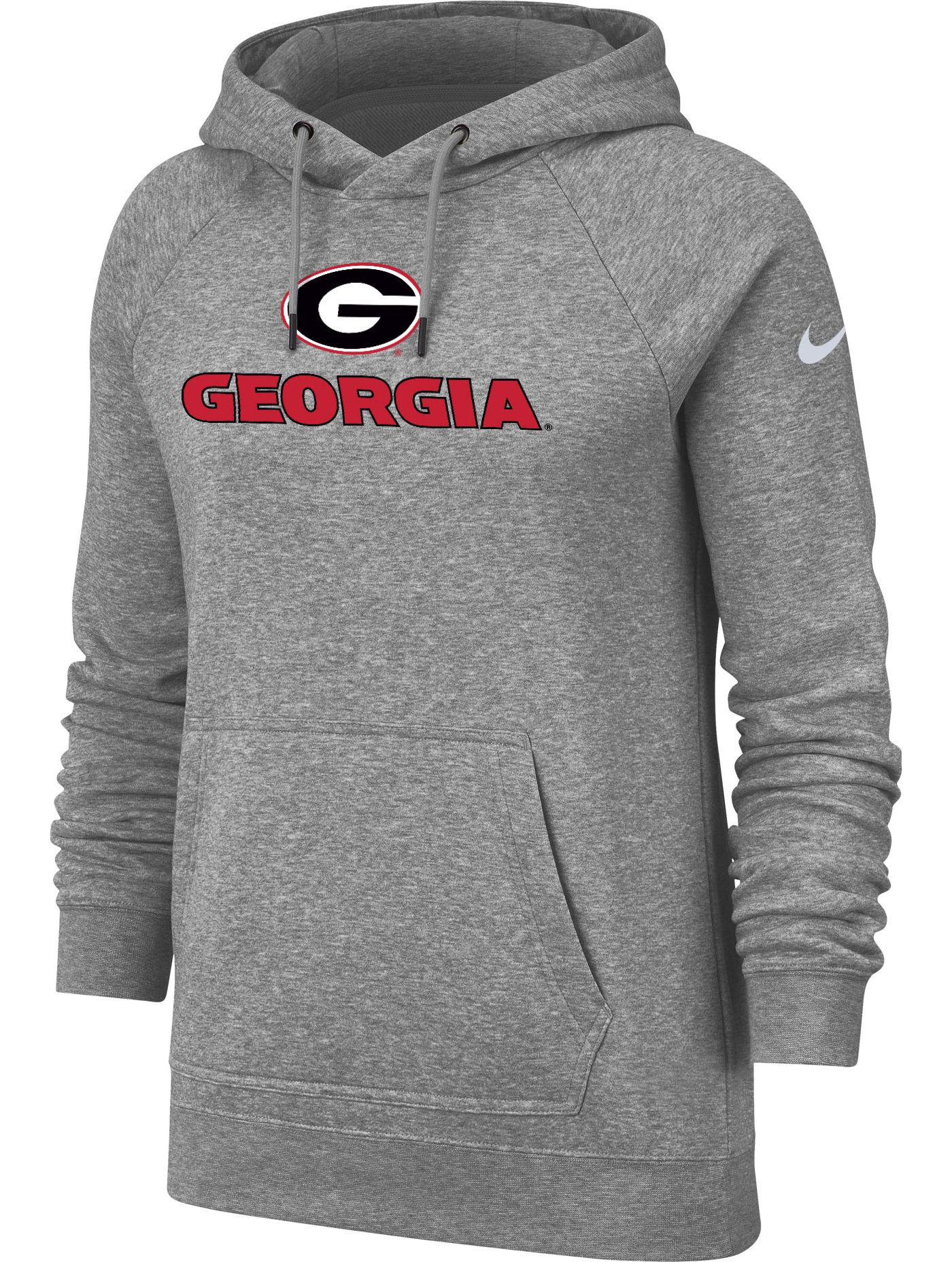 Nike Women's Georgia Bulldogs Grey Rally Pullover Hoodie