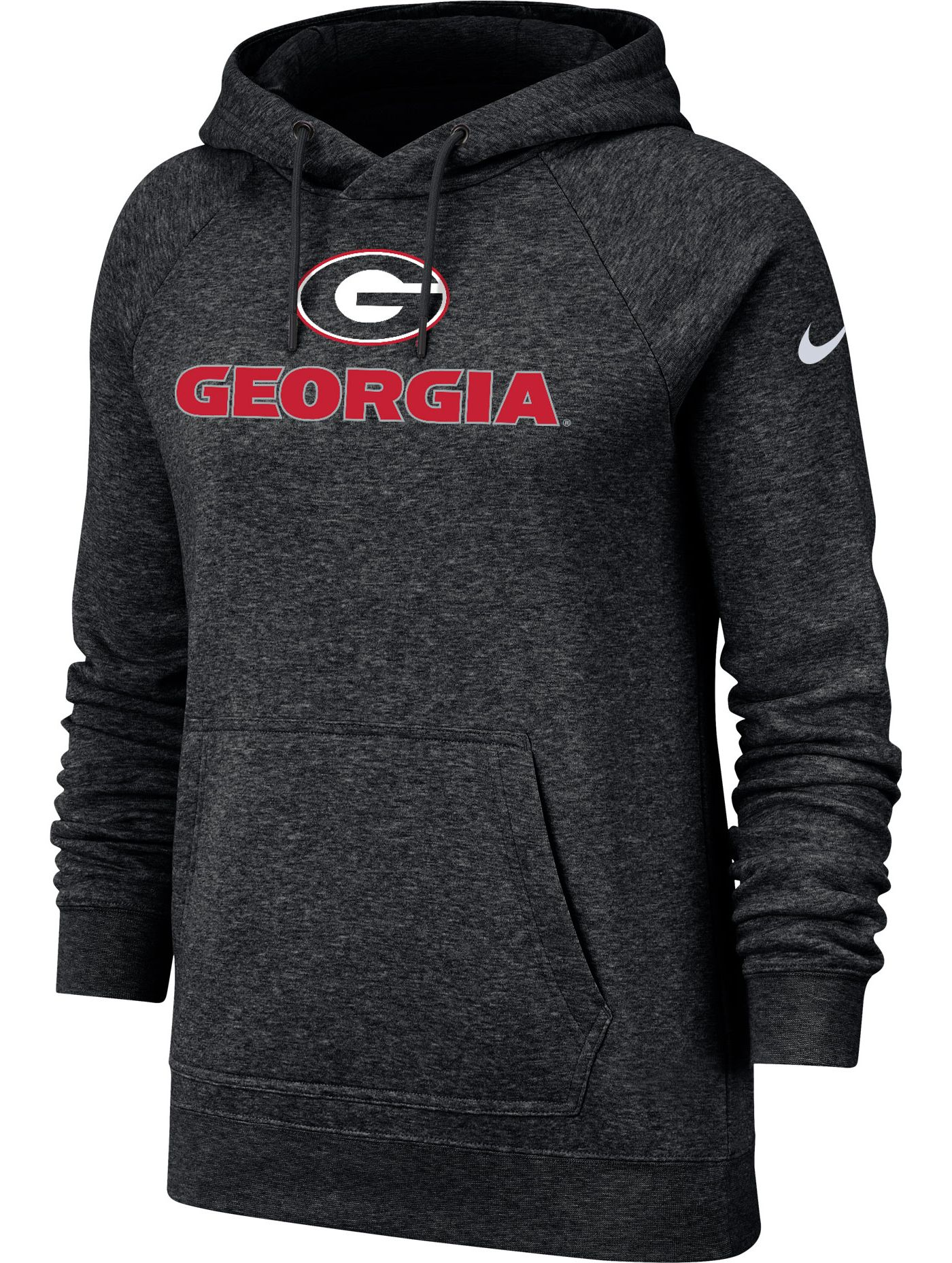 Nike Women's Georgia Bulldogs Rally Pullover Black Hoodie