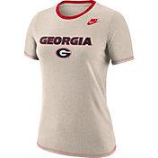 Nike Women's Georgia Bulldogs Oatmeal Dry Crew Neck T-Shirt