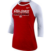 Nike Women's Ohio State Buckeyes Scarlet Dri-FIT ¾ Sleeve T-Shirt