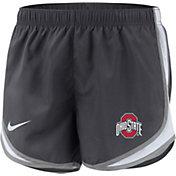 Nike Women's Ohio State Buckeyes Gray Dri-FIT Tempo Shorts