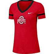 Nike Women's Ohio State Buckeyes Scarlet Slub V-Neck T-Shirt