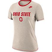 Nike Women's Ohio State Buckeyes Oatmeal Dry Crew Neck T-Shirt