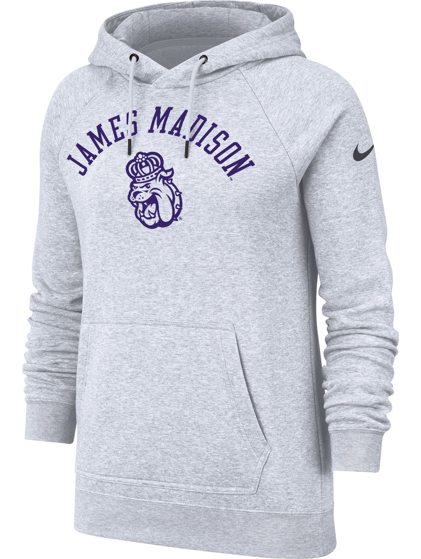 Nike Women's James Madison Dukes Grey Rally Pullover Hoodie