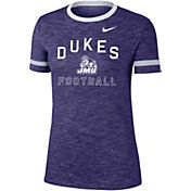 Nike Women's James Madison Dukes Purple Slub Fan Ringer Football T-Shirt