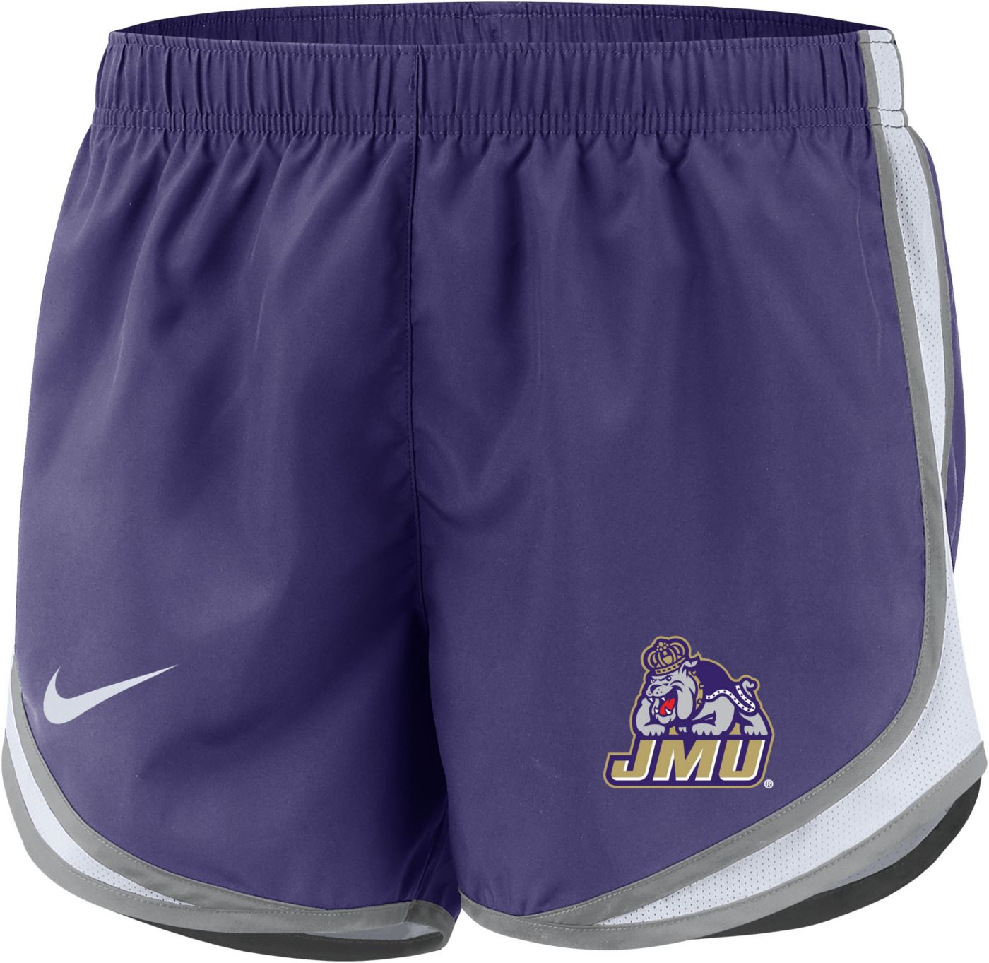 Nike Women's James Madison Dukes Purple Dri-FIT Tempo Shorts