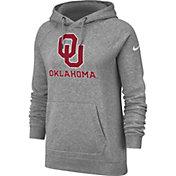 Nike Women's Oklahoma Sooners Grey Rally Pullover Hoodie