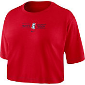 Nike Women's Ole Miss Rebels Red Slub Cropped 'Hotty Toddy' T-Shirt