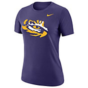 Nike Women's LSU Tigers Purple Dri-FIT Cotton Logo T-Shirt