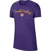 "Nike Women's LSU Tigers Purple Marled Crew ""Death Valley"" T-Shirt"