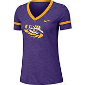 Nike Women's LSU Tigers Purple Slub V-Neck T-Shirt