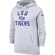 Nike Women's LSU Tigers Rally Pullover White Hoodie