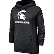 Nike Women's Michigan State Spartans Rally Pullover Black Hoodie