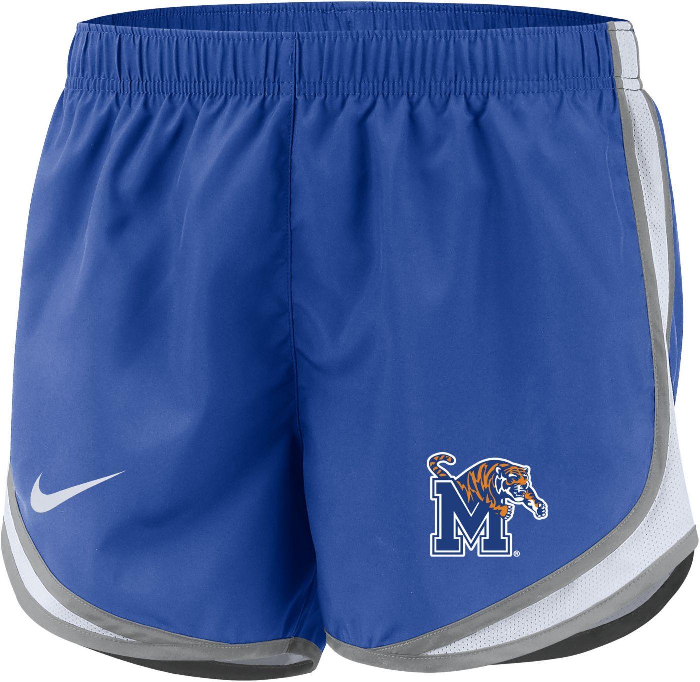 Nike Women's Memphis Tigers Blue Dri-FIT Tempo Shorts