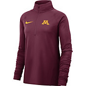 Nike Women's Minnesota Golden Gophers Maroon Half-Zip Shirt