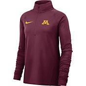 Nike Women's Minnesota Golden Gophers Maroon Half-Zip Pullover Shirt