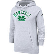 Nike Women's Marshall Thundering Herd Grey Rally Pullover Hoodie